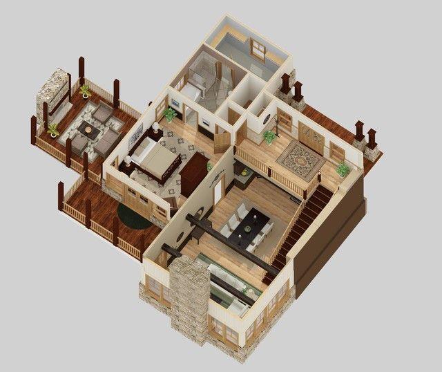 Storey 5 Bedroom House Plans 3d Unique Apartment In 2019