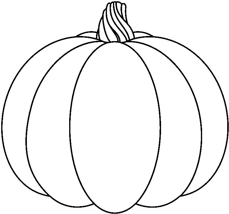 Pumpkin black and white pumpkin with dotted lines clipart black and ...