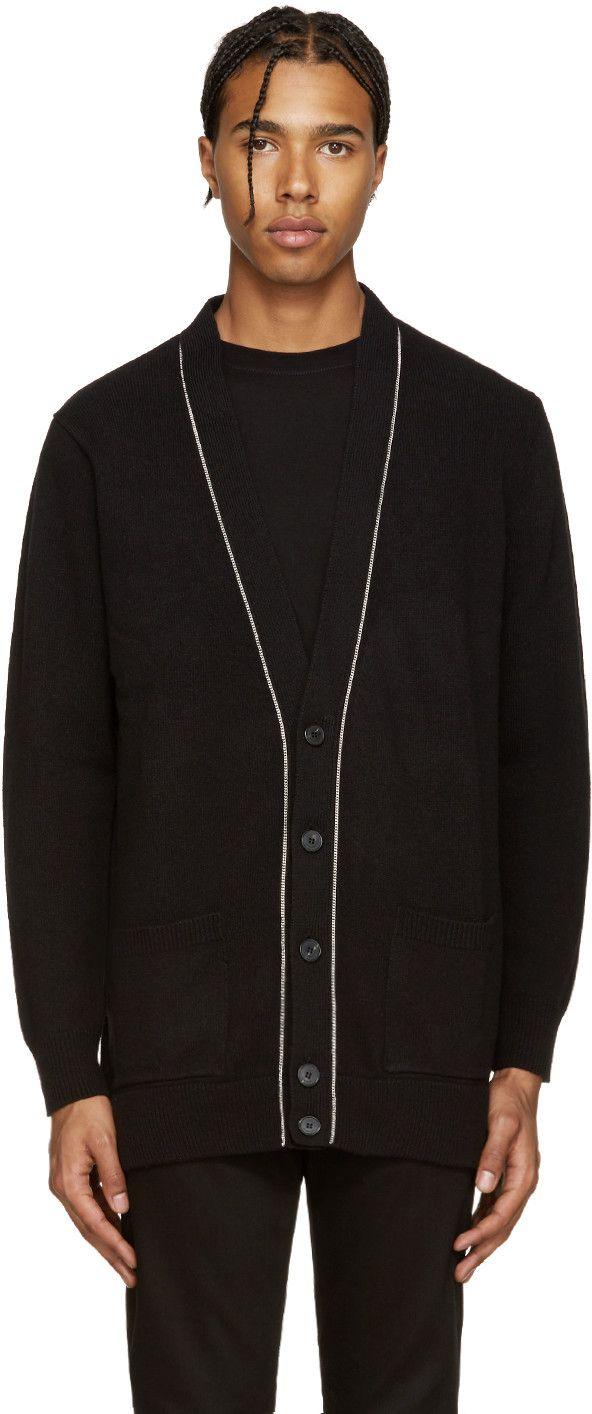 Givenchy - Black Wool Chain Cardigan 690 EUR / $1070. | Cardigans ...
