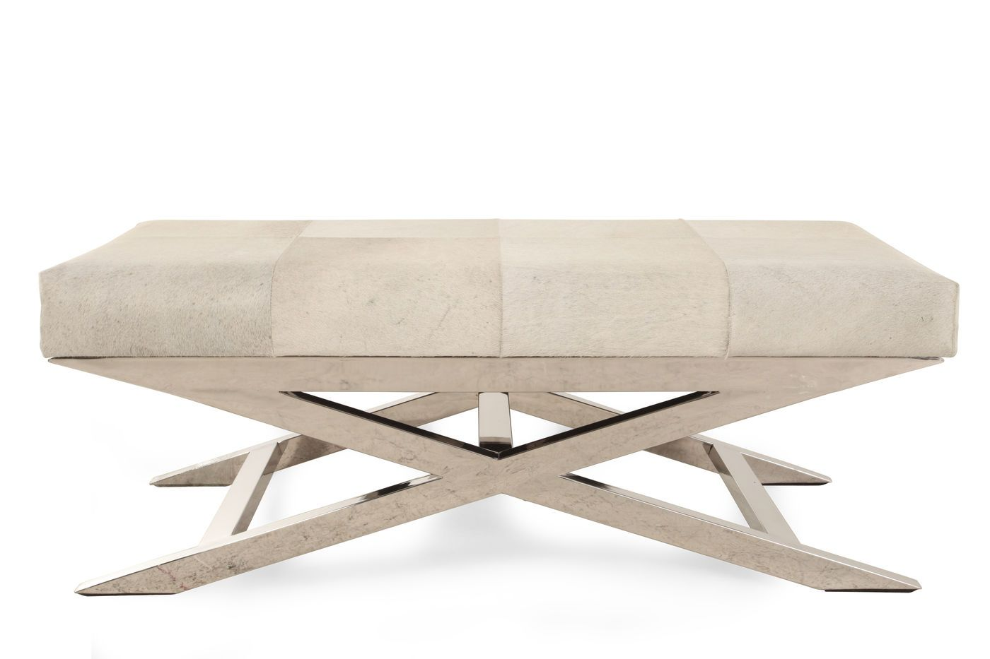 Modern 47 Accent Bench In Cream Mathis Brothers Furniture