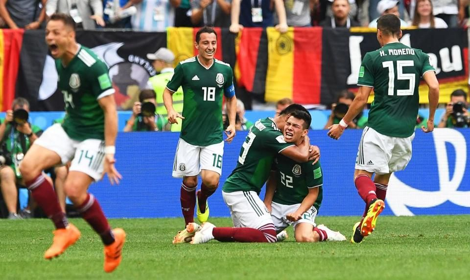 Mexico Upsets World Cup Champion Germany The Boston Globe World Cup World Cup Champions Soccer Match