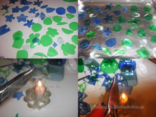 Bisuteria hecha con botellas de plastico recicladas Botellas de - manualidades faciles