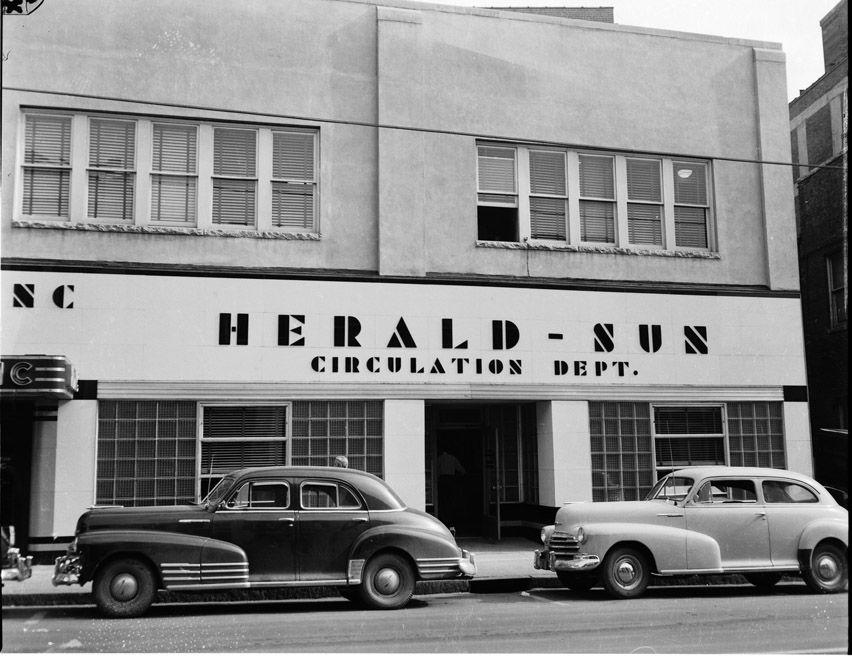 Herald Sun Cira 1950s Herald Durham North Carolina Durham Nc