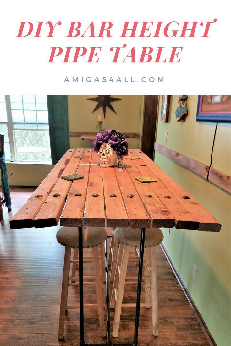 how to make an easy bar height pipe table furniture diy ideas rh pinterest com