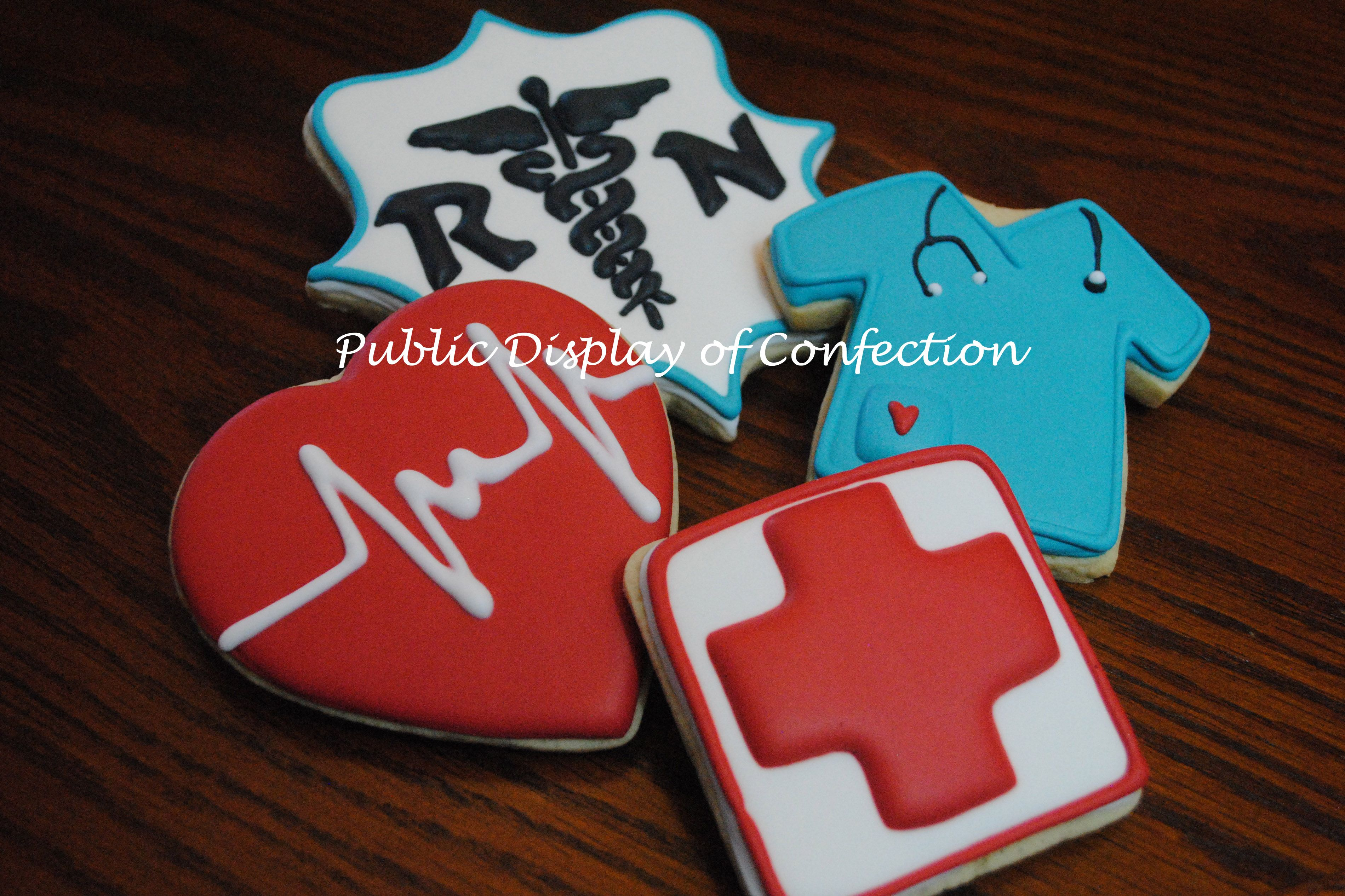 Congrats to the new rn medical cookies nurse cookies