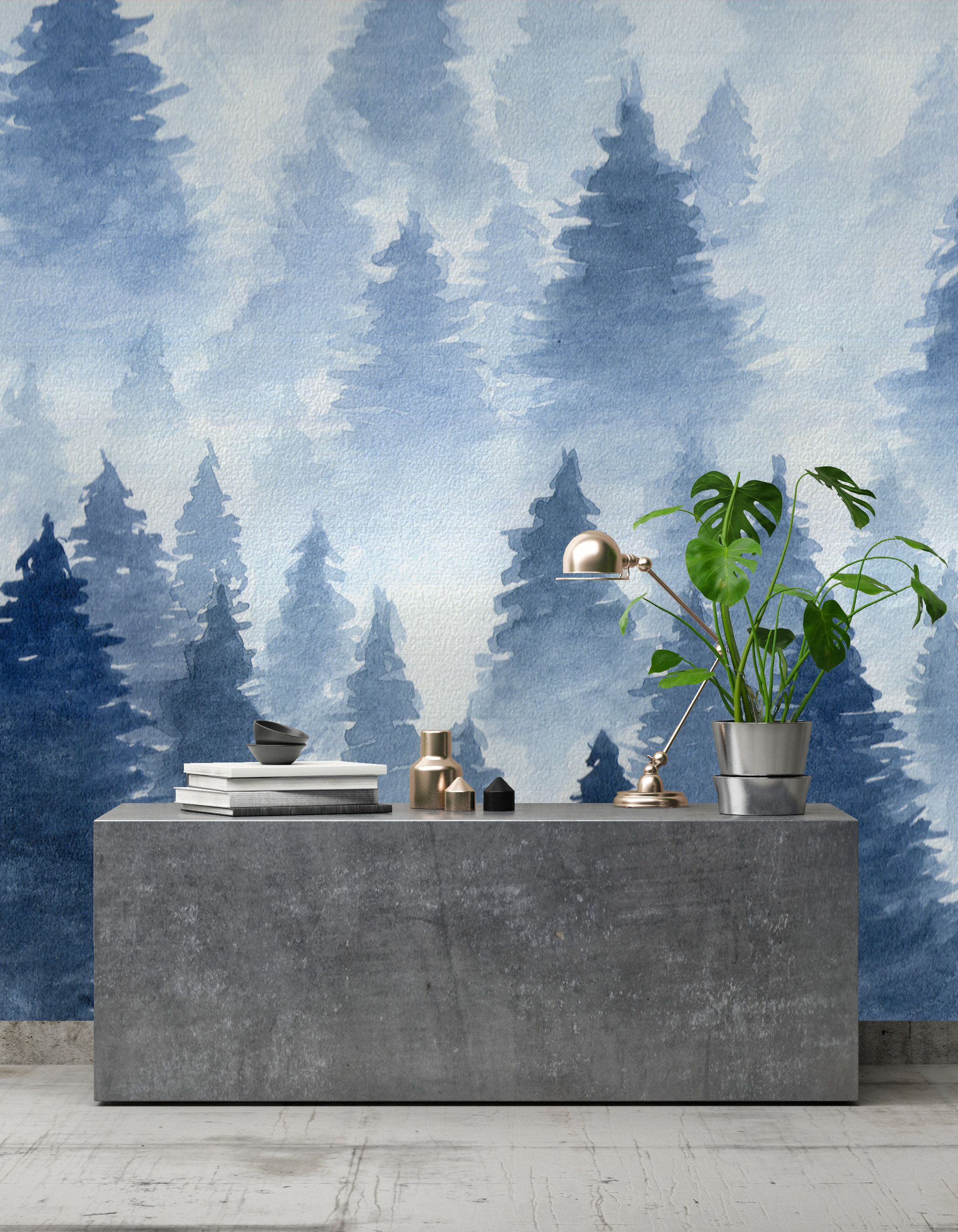 Large Peony Mural Removable Wallpaper Peel & Stick