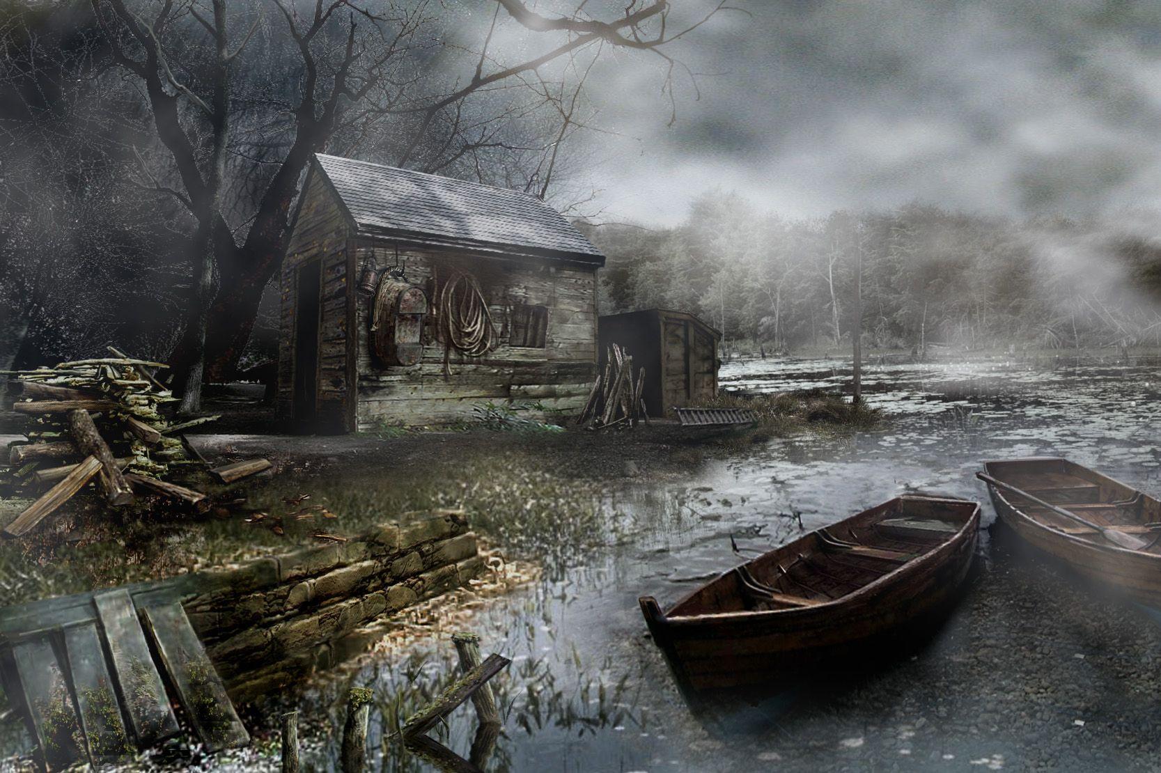 Concept Art Image Resident Evil 4 Resident Evil Paisagem