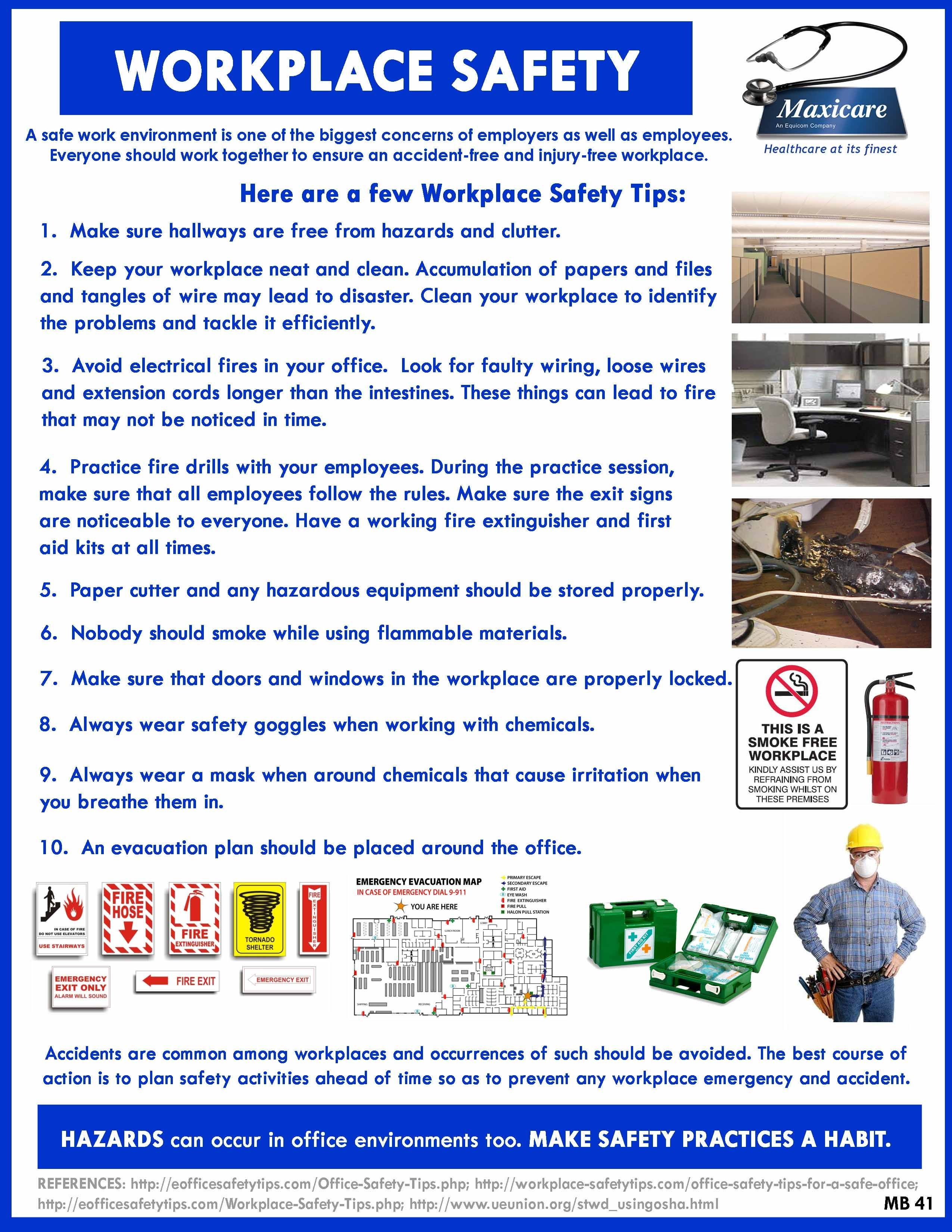 Work space Safety Occupational health and safety