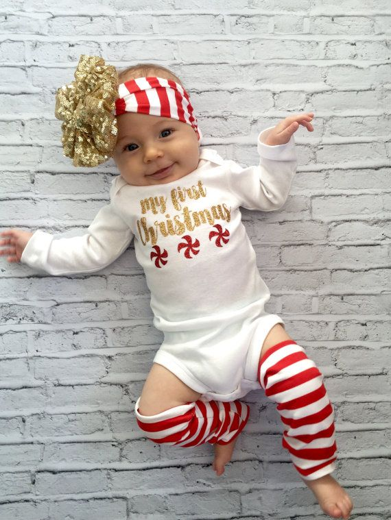 b1fb0a71a My First Christmas onesie baby girl Christmas by MyLittleMissCo Cute  Christmas Outfits, First Christmas,