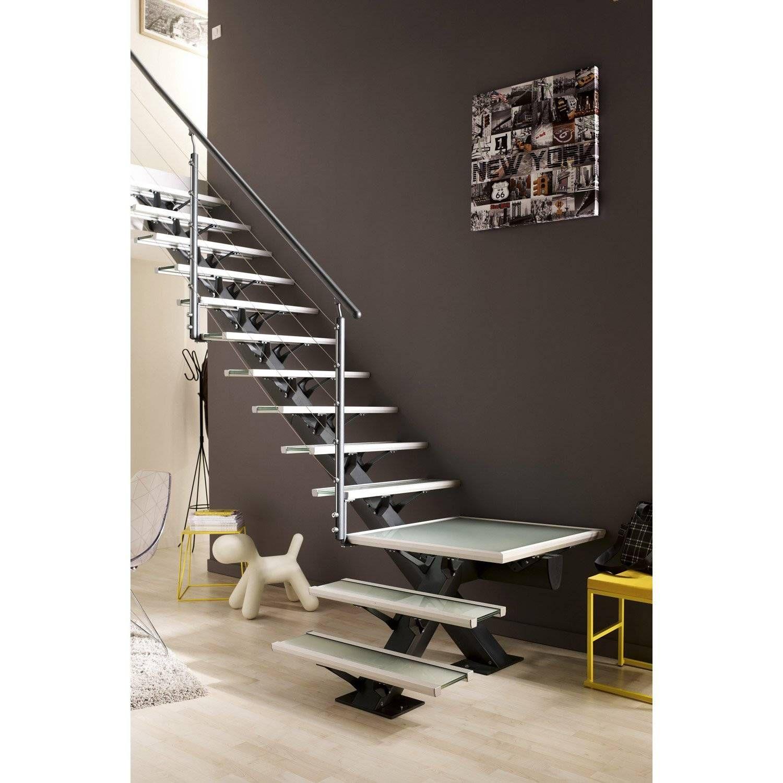 Marche Escalier Bois Leroy Merlin Escalier Quart Tournant Mona Structure Aluminium Marche Home Stairs Design Home Decor Interior Design