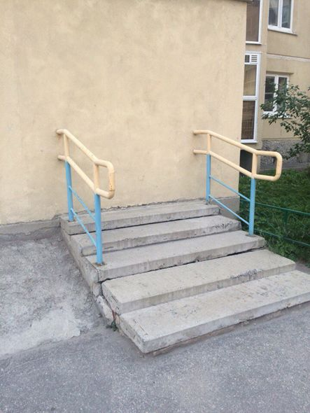 Escaleras en una pared