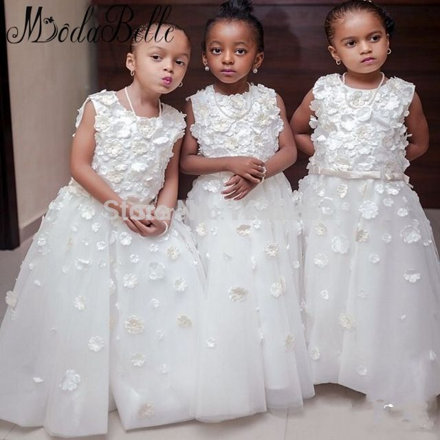 2017 Little Princess Flower Girl Dresses White Pageant Cupcake