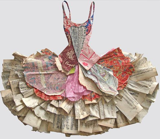 Book fashion. A dress for reading.