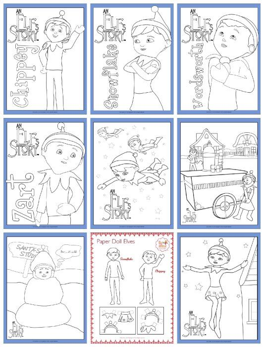 Elf On The Shelf Free Printable Coloring Pages Thesuburbanmom Coloring Pages Xmas Elf Elf On The Shelf