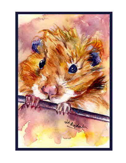He encontrado este interesante anuncio de Etsy en https://www.etsy.com/es/listing/201554015/set-of-8-watercolor-hamster-note-cards