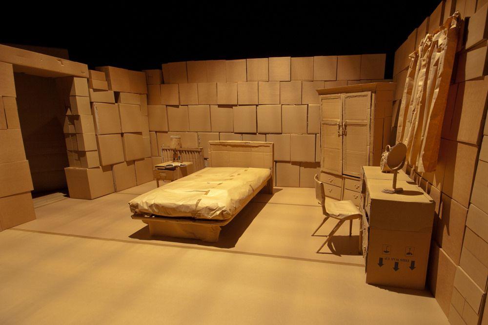 Cardboard Set Bedroom Set Design Theatre Stage Set Design