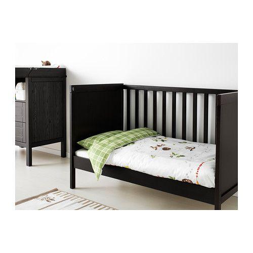 sale retailer 3eb01 bb98c SUNDVIK Crib - black-brown | Baby | Ikea crib, Ikea sundvik ...