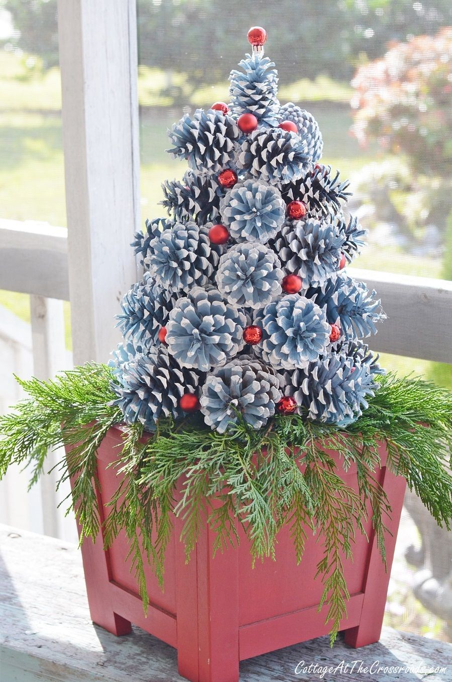 How to Make Pine Cone Christmas Trees | Pine cone christmas decorations, Diy christmas tree ...