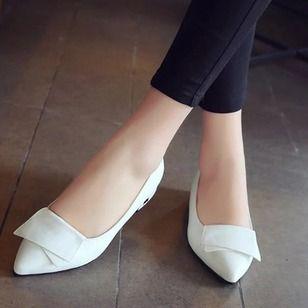 Tacón Mujer De Bajo Zapatos Salón Pu wPkZiXuTO