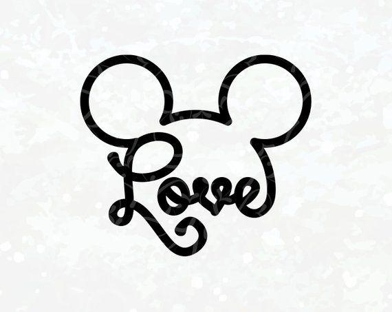 Download Disney love svg Mickey ear svg Disney iron on transfer ...