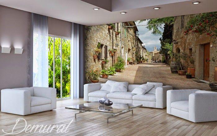 Steintreppen-treppe-fototapeten-fixar LED Leuchtwand - tapeten fur wohnzimmer ideen