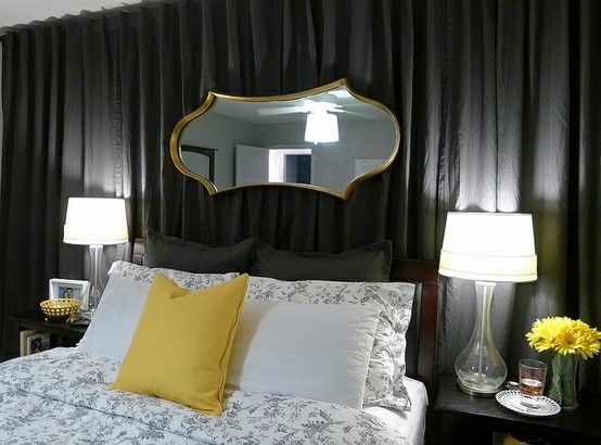 Use Curtains To Create An Accent Wall If You Can T Paint Home Bedroom Inspirations Bedroom Colors