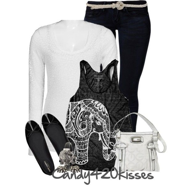 One Elephant went out to play.., created by candy420kisses on Polyvore