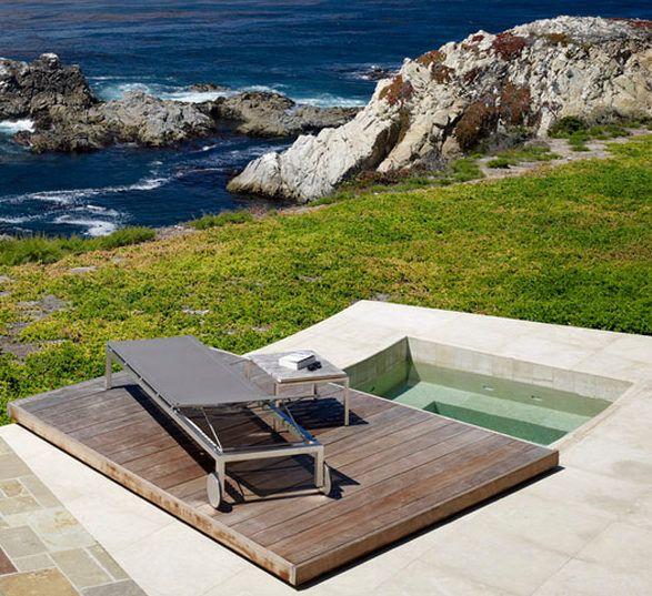 Belebende-Gartengestaltung-mit-kleinem-Sauna-Tauchbecken-zum - gartengestaltung mit kleinem pool