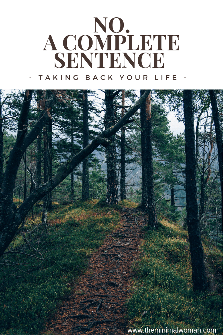No. A complete Sentence - Taking Back Your Life | Complete ...