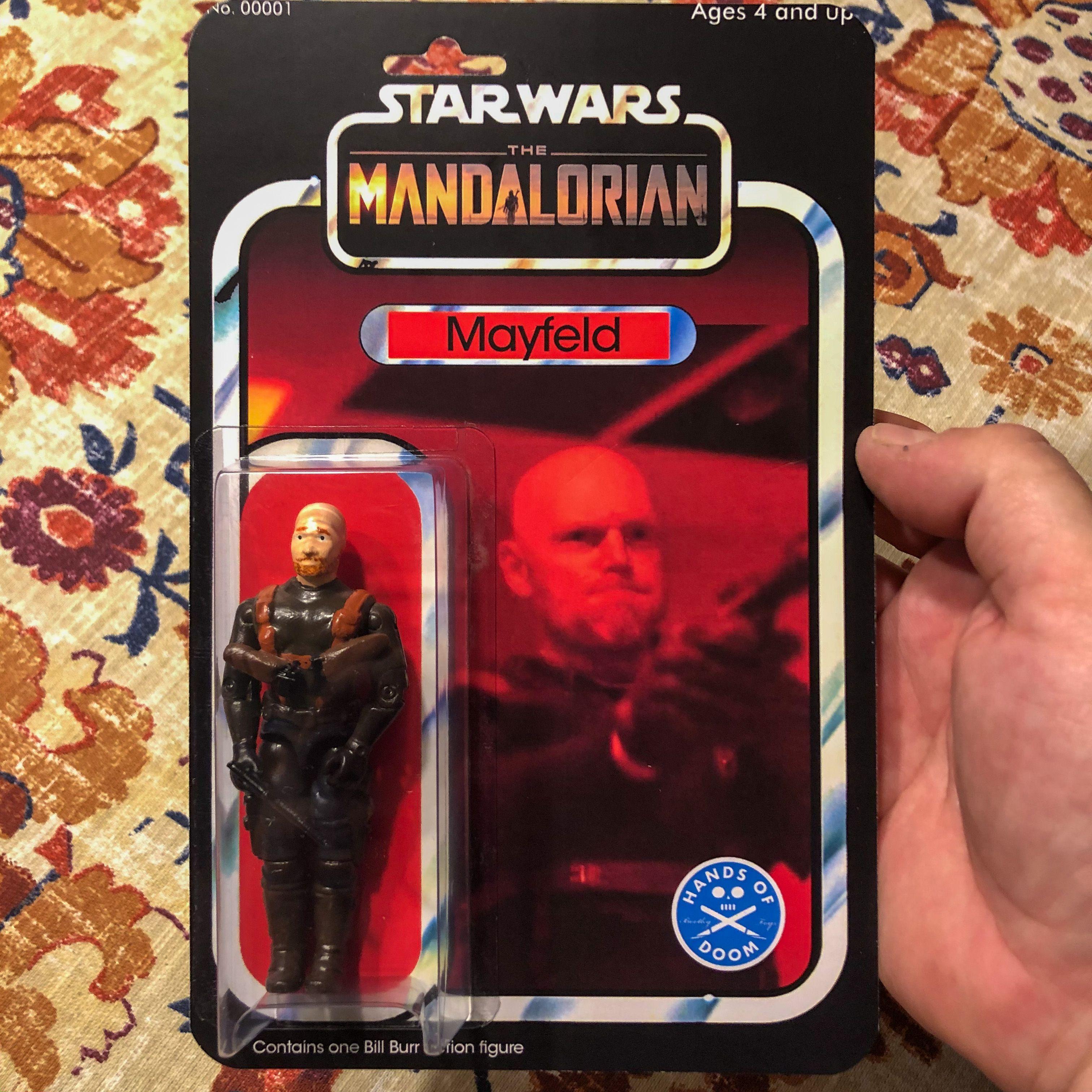Bill Burr Mandalorian Action Figure Bootleg Toys Action Figures Mandalorian
