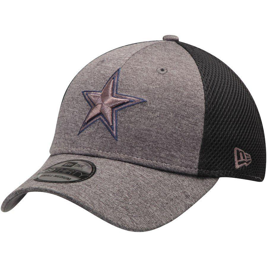 1fd1b71869e Men s Dallas Cowboys New Era Heathered Graphite Charcoal Neo 39THIRTY Flex  Hat