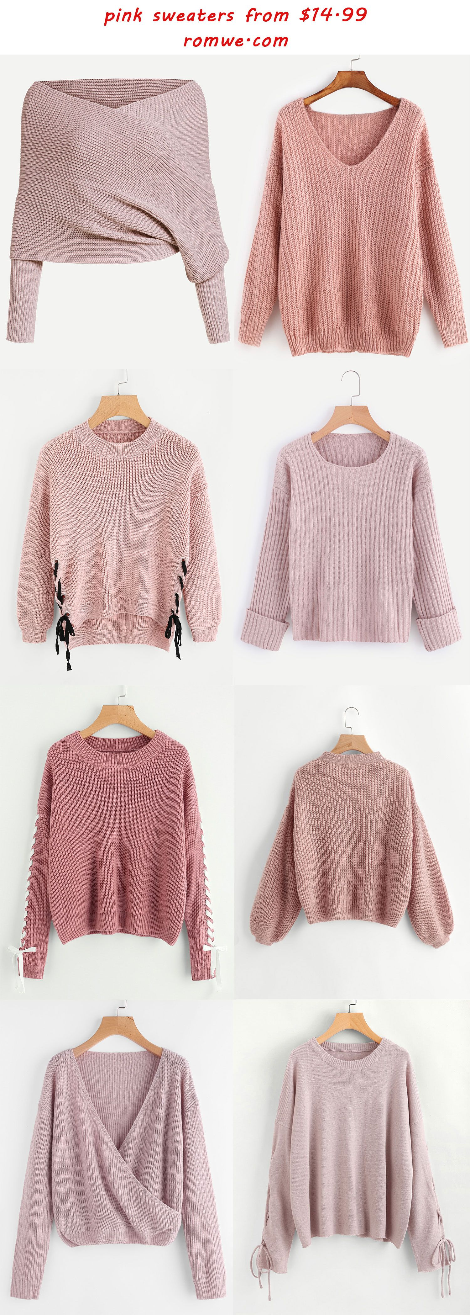 pink sweaters 2017 - romwe.com | Outfits | Pinterest | Clothes ...