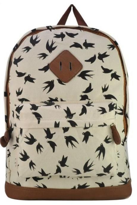 5dfdee6fd326 Animal Print Teen School White Girl backpack