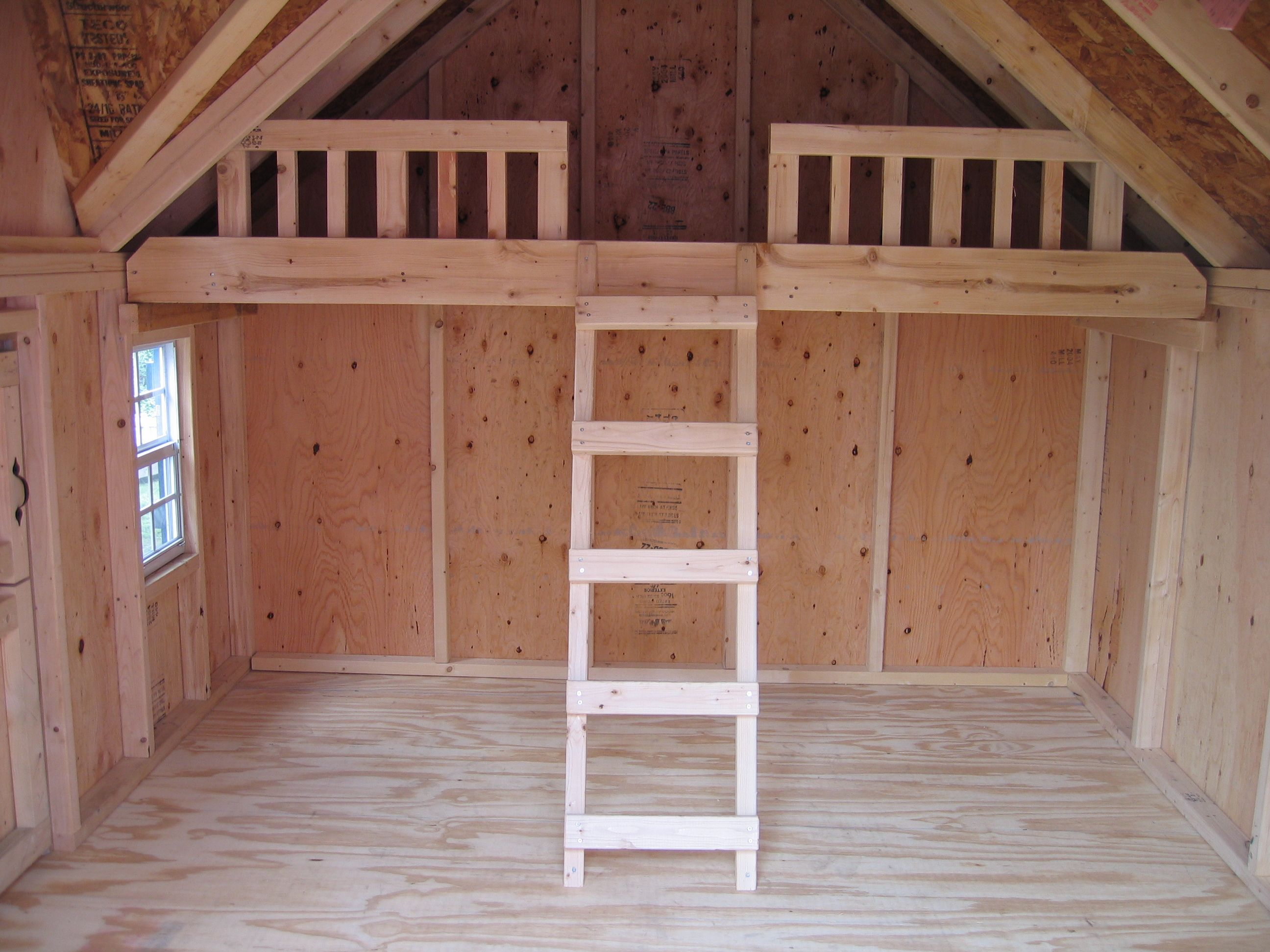 Shed playhouse combination ideas playhouse plans with for Free barn plans with loft