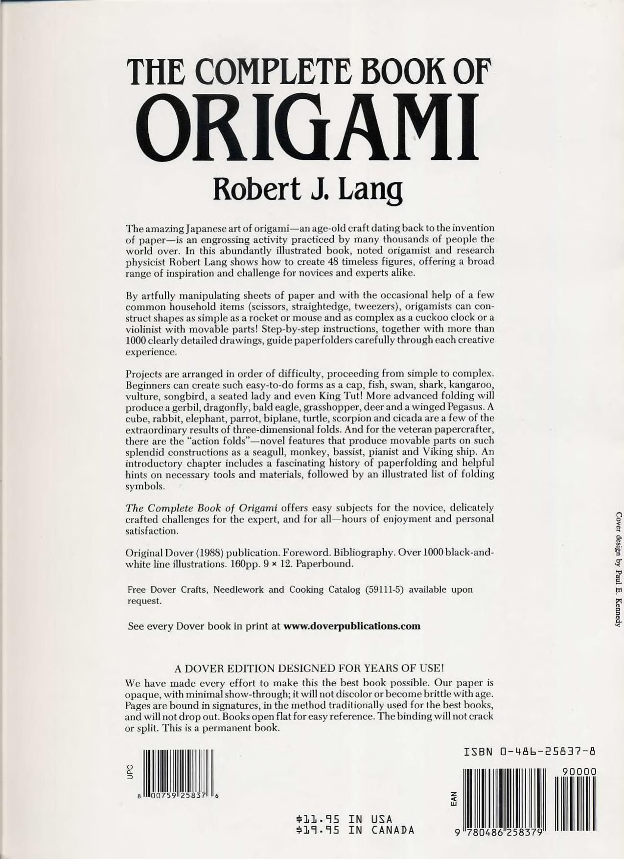 The Complete Book Of Origami Step By Instructions In Over Complex Diagrams 1000 37 Original Models