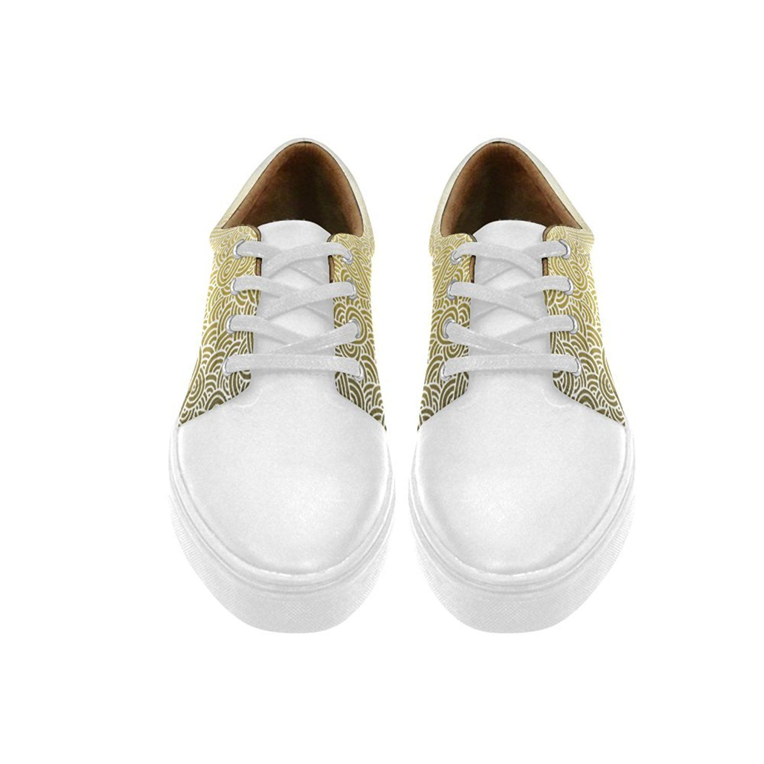 Lace Up Womens Shoes swirls zentangle Womens Leather Fashion Sneakers >>> Be sure to check out this awesome product. This Amazon pins is an affiliate link to Amazon.