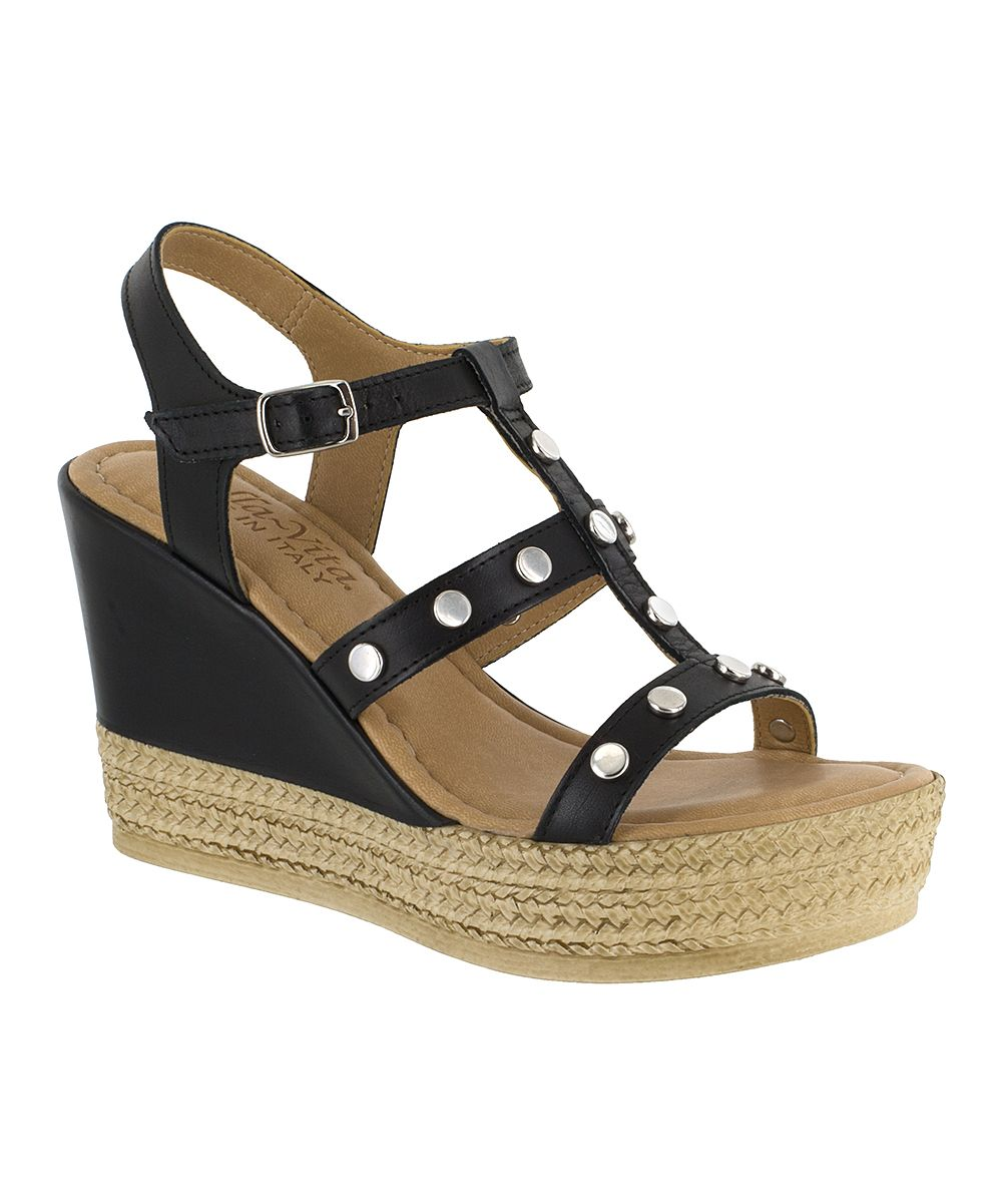 5ac5131a7700 Black Rin-Italy Leather Platform Sandal