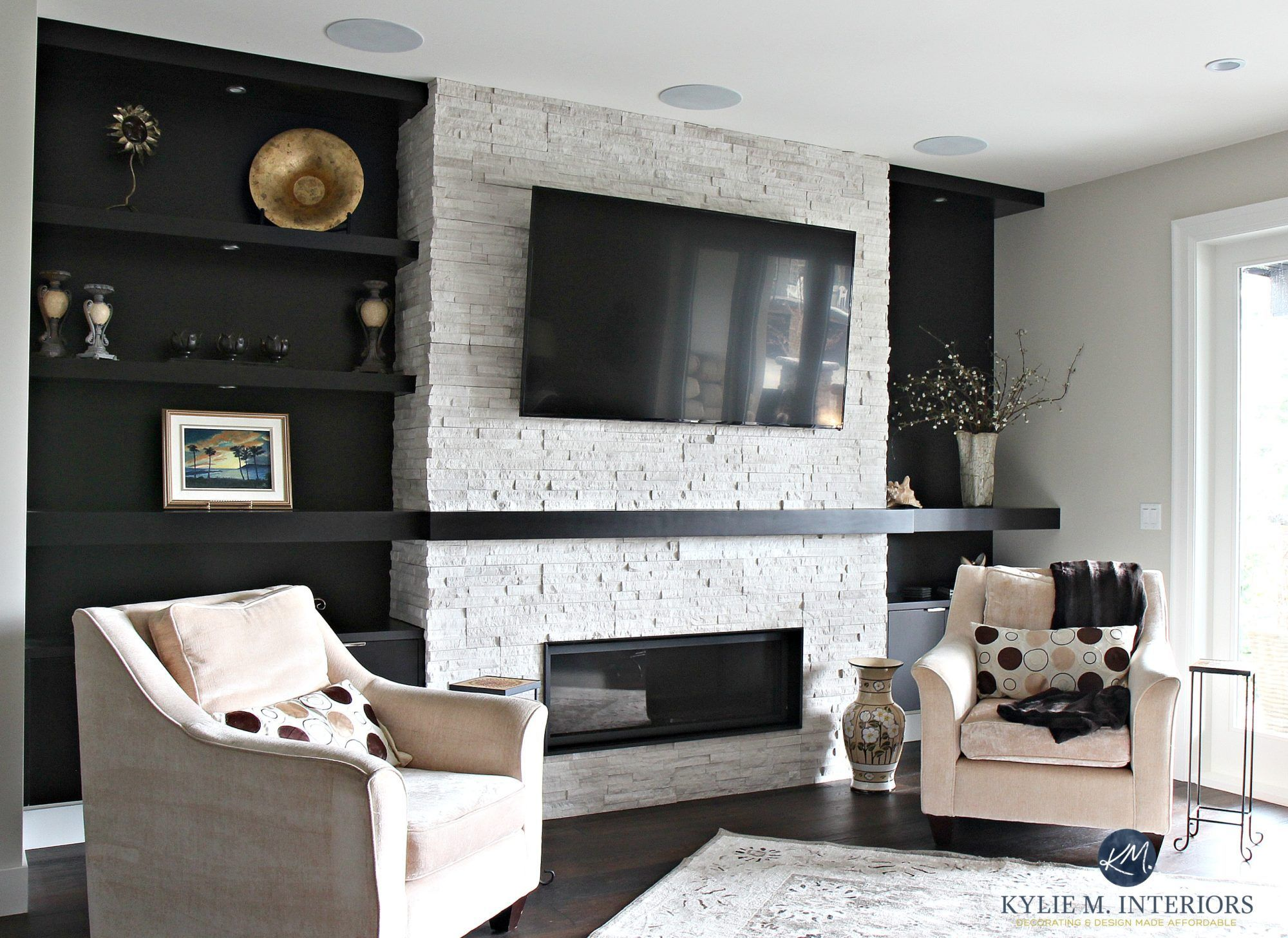 A Contemporary And Comfortable New Home In Nanaimo Living Room Wood