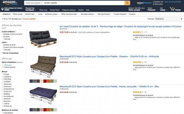 Coussins Pour Palette Chez Amazon Canap Palettes Palette