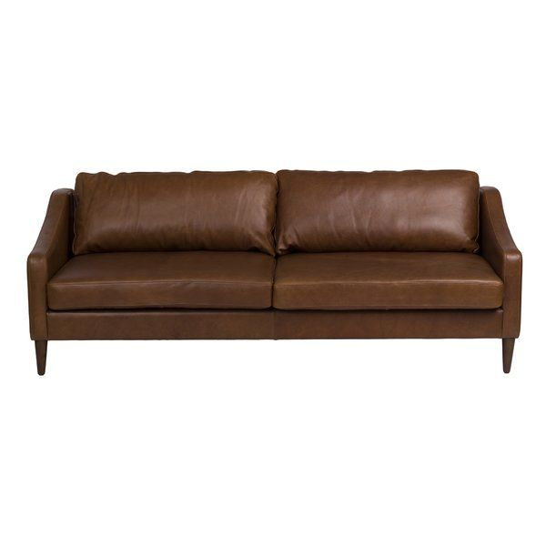 Magnificent Bungalow Rose Bucoli Leather Sofa Wayfair Furniture In Bralicious Painted Fabric Chair Ideas Braliciousco