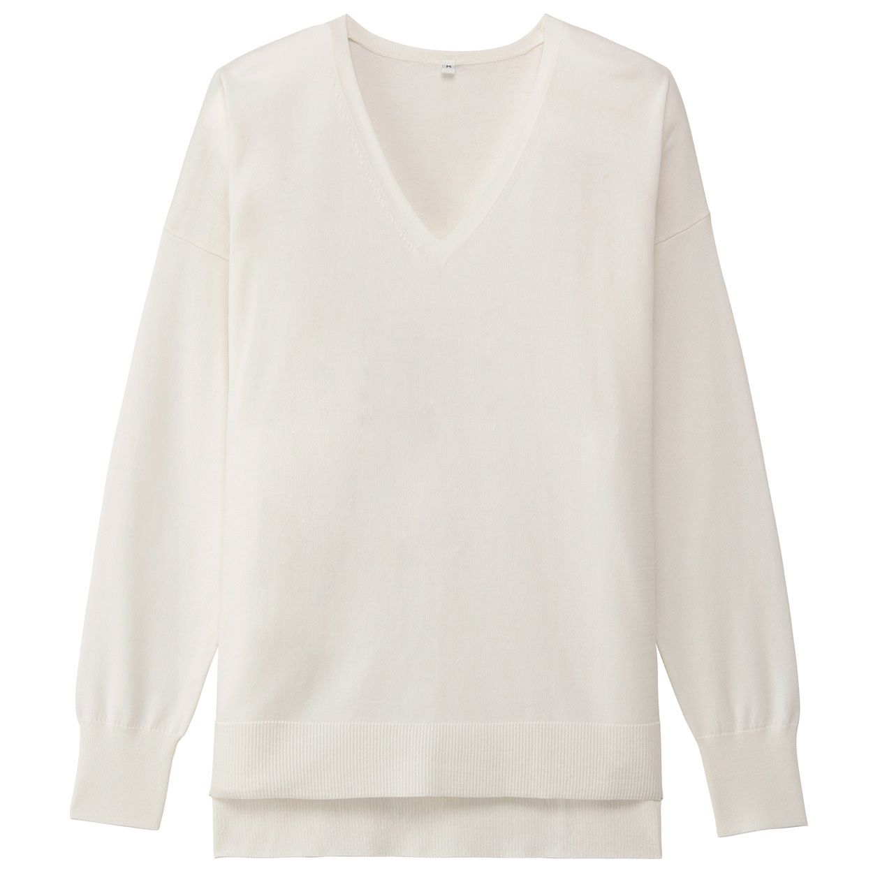 オーガニックコットンシルクVネックセーター 婦人S・オフ白 | 無印良品ネットストア
