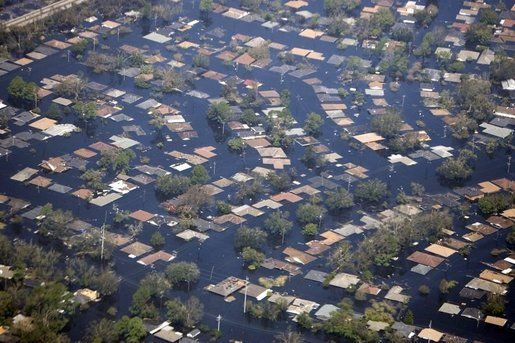 Bush Sees Katrina Damage On Way To Capital Natural Disasters