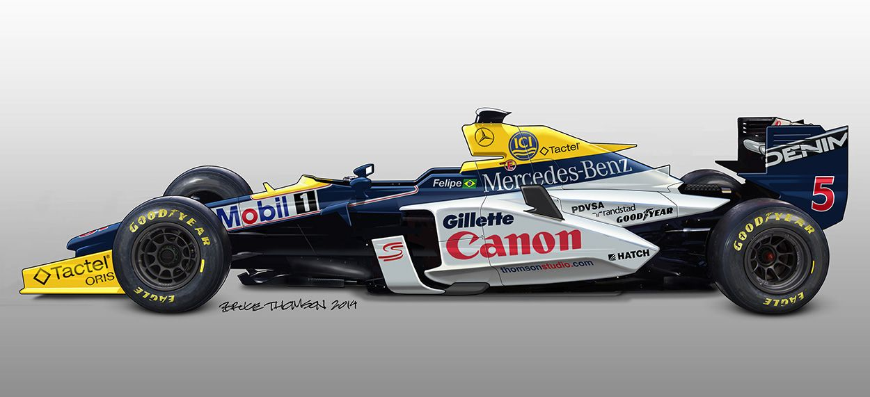 Williams retro-futurist rendering | race@cars | Formula 1 car, Indy