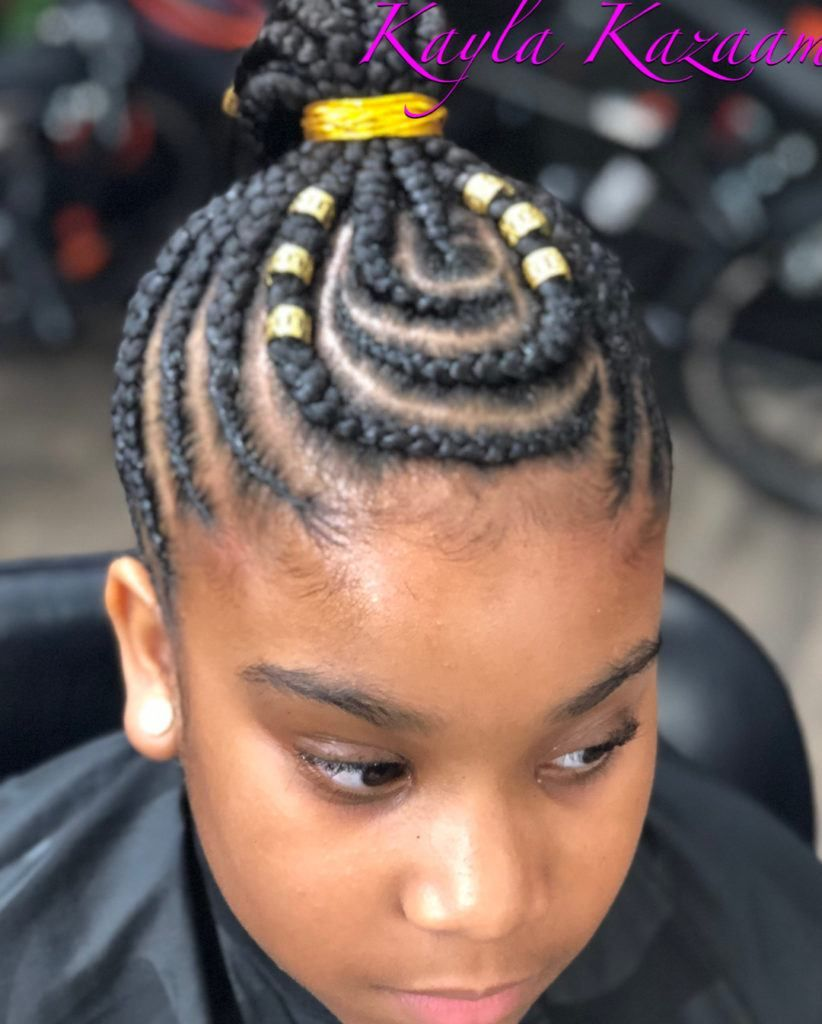 latest Fulani black braided hairstyles for kids To copy and