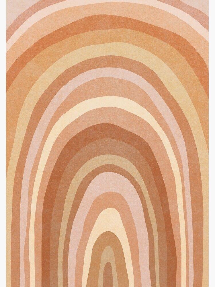 Earth tone Rainbow Art Print