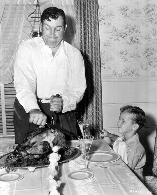 Andy Devine With His Son Tad