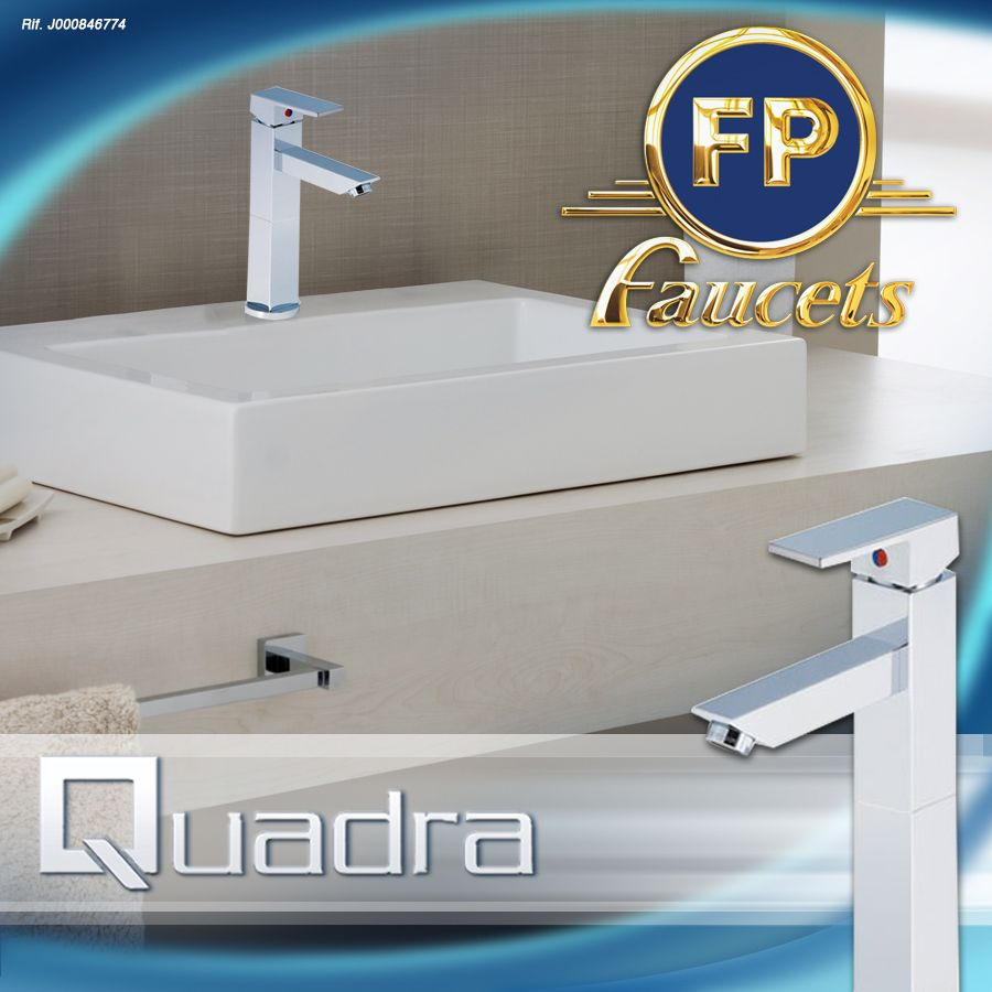 Innovando con grifería QUADRA y un lavamanos también cuadrado ...