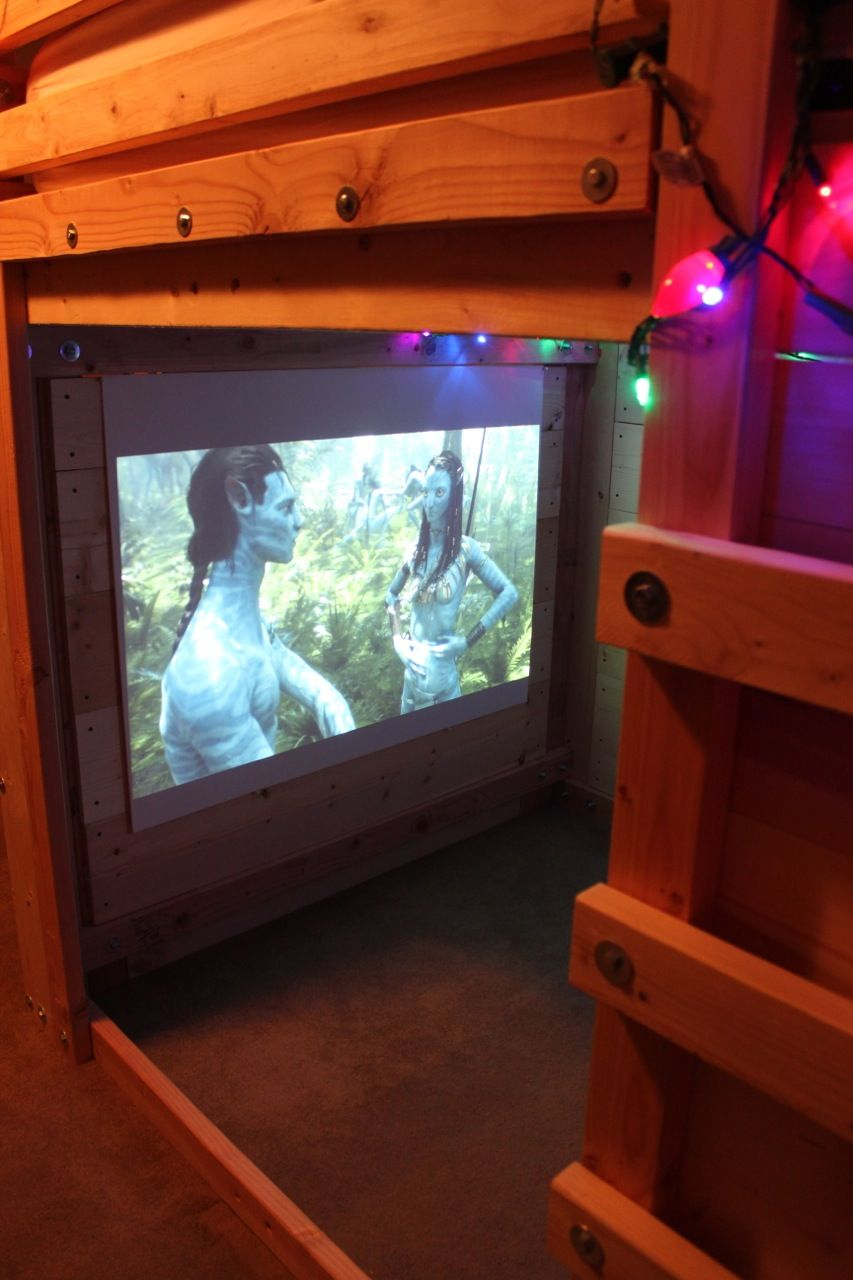 Micro Movie Room Setup In A Bed Fort! Cool Ideas For DIY