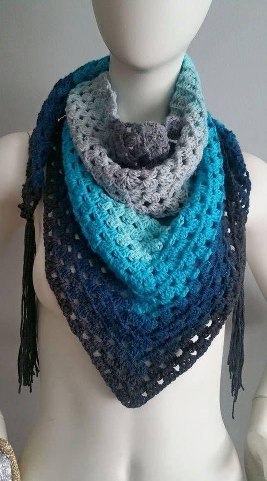Crochet Pattern Granny Stripe Scarf Pdf Only Crochet Granny Scarf