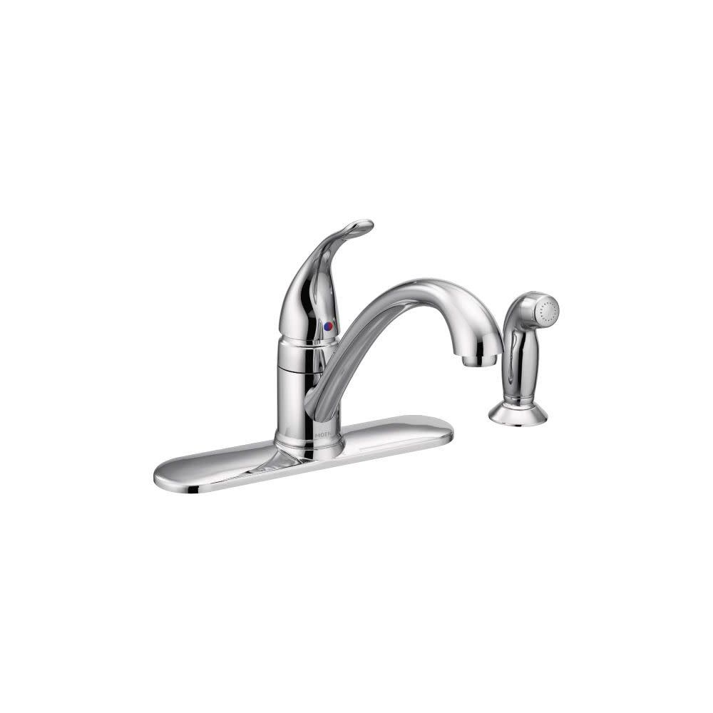 Moen 7082 Torrance Kitchen Faucet With Side Spray And Escutcheon